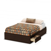 South Shore Clever Room Full Mates Bed (54 inches) - Mocha