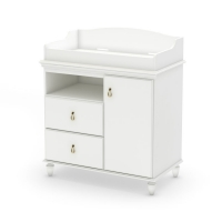 South Shore Moonlight Changing Table - Pure White