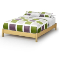 South Shore Step One Queen Platform Bed (60 inches) - Natural Maple