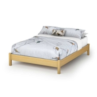 South Shore Step One Full Platform Bed (54 inches) - Natural Maple