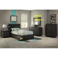 South Shore Fynn 5 pc. Bedroom Set - Gray Oak