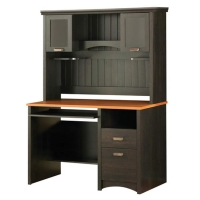 South Shore Gascony Desk/Hutch - Ebony/Spice