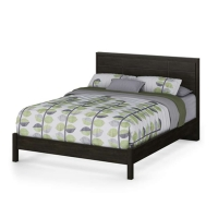 South Shore Gravity 60 in. Queen Bed & Frame/Headboard Set - Ebony