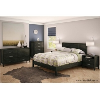 South Shore Gravity 5 pc. Queen Bedroom Set - Ebony