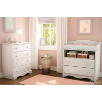 South Shore Heavenly Changing Table/Chest Set - Pure White
