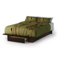 South Shore Holland Queen Platform Bed - Mocha