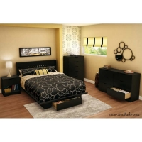 South Shore Holland 5 pc. Bedroom Set - Pure Black