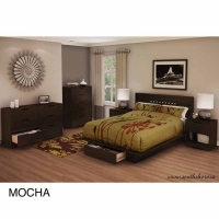 South Shore Holland 6 pc. Bedroom Set - Mocha