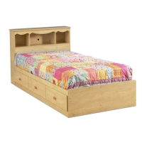 South Shore Lily Rose Twin Mates Bed/Headboard Set - Romantic Pine