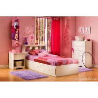 South Shore Crystal Kids 4 pc. Bedroom Set - Pure White