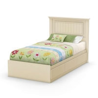 South Shore Hopedale Twin Mates Bed/Headboard Combo - Ivory