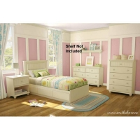 South Shore Hopedale 5 pc. Twin Bedroom Set - Ivory