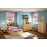 South Shore Step One Twin 5 pc. Bedroom Set - Natural Maple