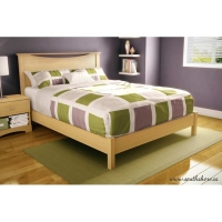 South Shore Step One Queen 3 pc. Bedroom Set - Natural Maple