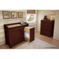 South Shore Precious Changing Table/Chest Set - Royal Cherry