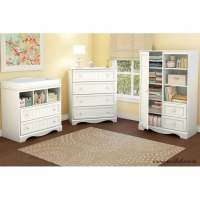 South Shore Savannah 3 pc. Changing Table Set - Pure White