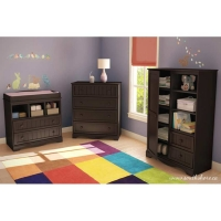 South Shore Savannah 3 pc. Changing Table Set - Espresso