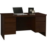 Ameriwood Cherry Executive Desk
