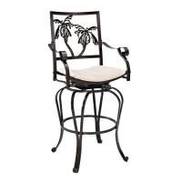 Powell Big-Tall Palm Tree Barstool w/Arms