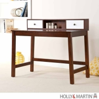 Holly & Martin Brody Espresso & White Desk w/Hutch