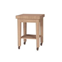 IC Unfinished Butcher Block Island w/Casters - RTA