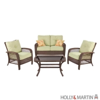 Holly & Martin Montego Bay 4 Piece Steel Woven Deep Seating Set by Agio™