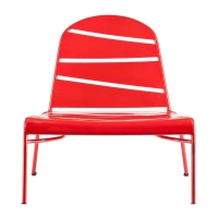 Holly & Martin Loggins Indoor/Outdoor Lounge Chair - Red