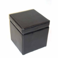4D Concepts Faux Leather Box Lift Top Ottoman