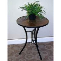 *AVAIL 2/28 4D Concepts Slate Round Top Coffee Table