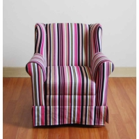 4D Concepts Striped Wingback Chair -2 Colors