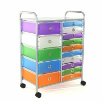 4D Concepts 15 Drawer Rolling Storage
