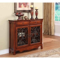 Powell Light Cherry  Scroll Console