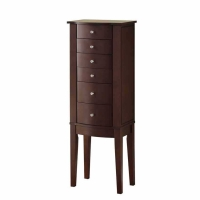 *AVAIL 8/31 Powell Merlot Cheval Jewelry Armoire
