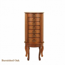 *OUT OF STOCK Powell Jewelry Armoire - Burnished Oak Finish