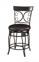 Powell Big & Tall Back to Back Scroll Counter Stool