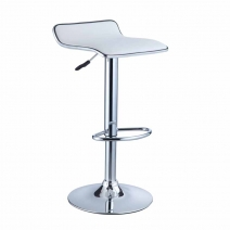 Powell Adjustable Height Thin Chrome Seat Bar Stool Set