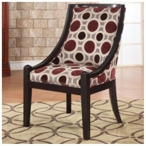 Powell Mulberry & Grey High Back Accent Chair