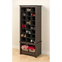 Prepac Tall Shoe Cubbie Cabinet ( 2 Colors )