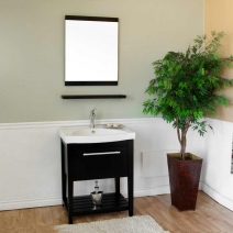Bellaterra 27.5 in Single Sink Wood Vanity in Black