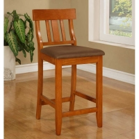 Linon Torino Slat Back Stool - 2 Heights