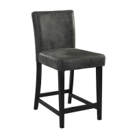 Linon Monaco Charcoal Stool - 2 Heights