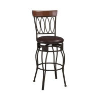 Linon Four Oval Back Stool - 2 Heights