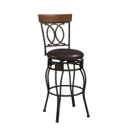 Linon O & X Back Stool - 2 Heights