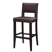 Linon Dark Brown Vega Stool - 2 Heights