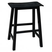 IC Slat Seat Stool 3 Heights - in Black