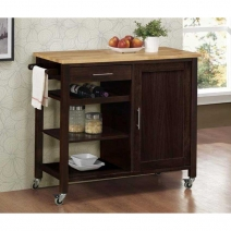 *Avail 7/18 4D Concepts Calgary Cart with Wood Top