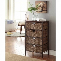 4D Concepts Farmington 4 Drawer Chest with Wood Top