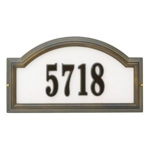 Whitehall Nite Brite Reflective Providence Standard Wall/Lawn Plaque Arch