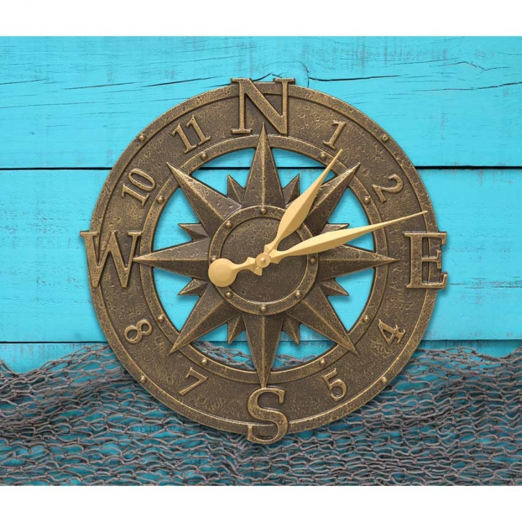 Whitehall Compass Rose Indoor Outdoor Clock