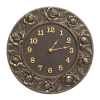 Whitehall Rose Indoor Outdoor Clock